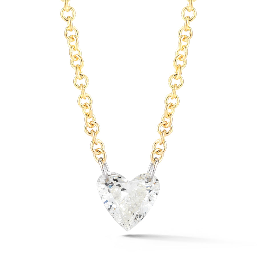 Heart Diamond Solo Necklace - Jo Latham
