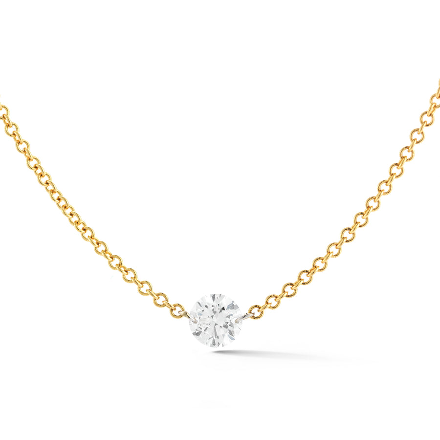 Round Diamond Solo Necklace - Jo Latham