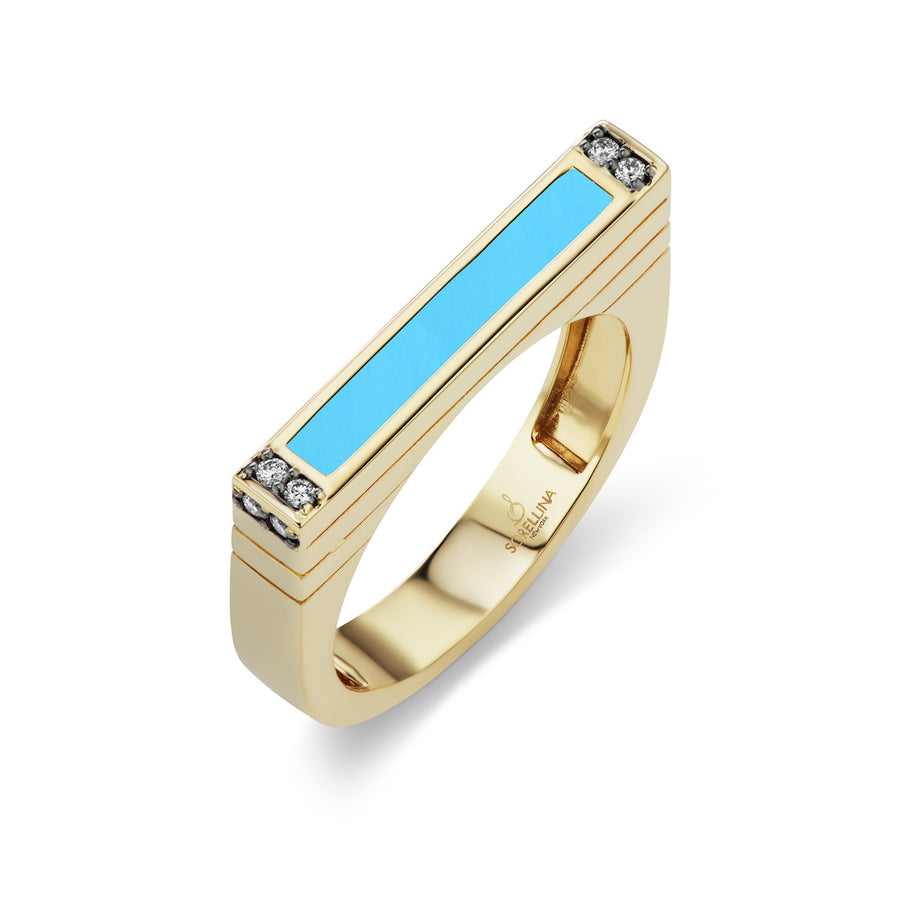 Turquoise Gemstone Stacking Ring - Jo Latham