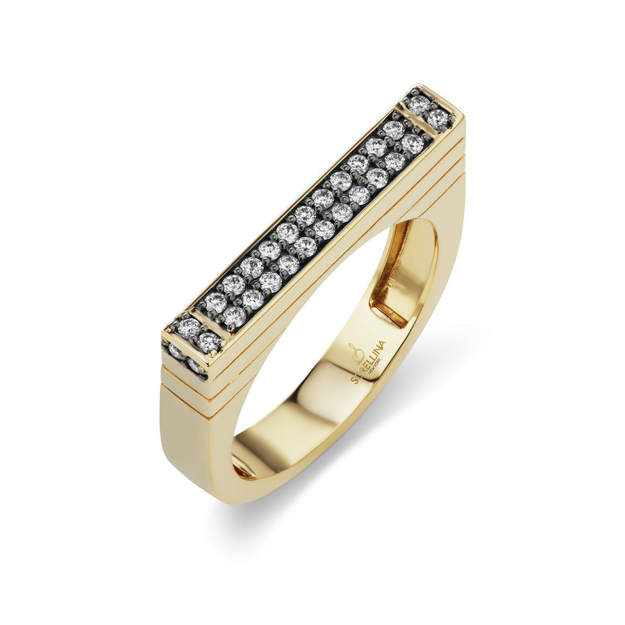 Diamond Pave Stacking Ring - Jo Latham