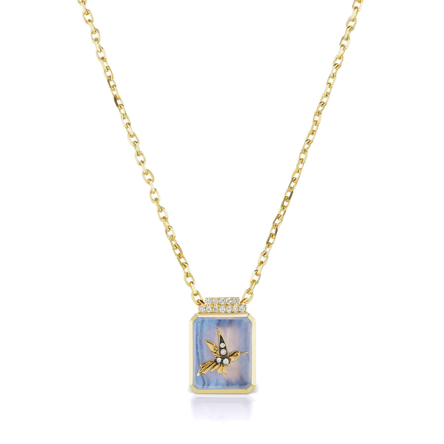 Hummingbird Signet Necklace - Jo Latham