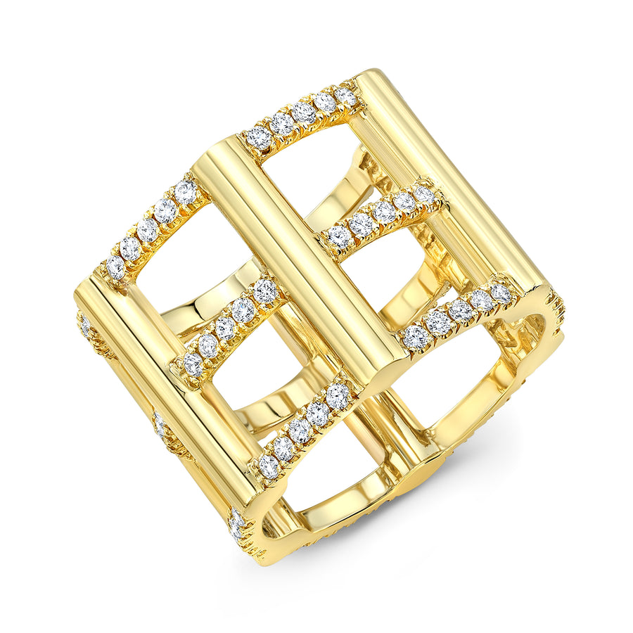 Diamond Cage Ring - Jo Latham