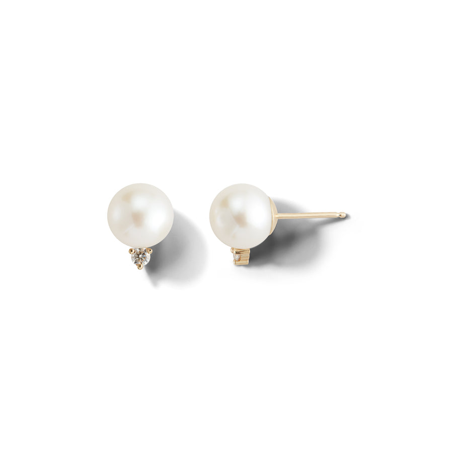 Large Pearl and Diamond Stud Earring - Jo Latham