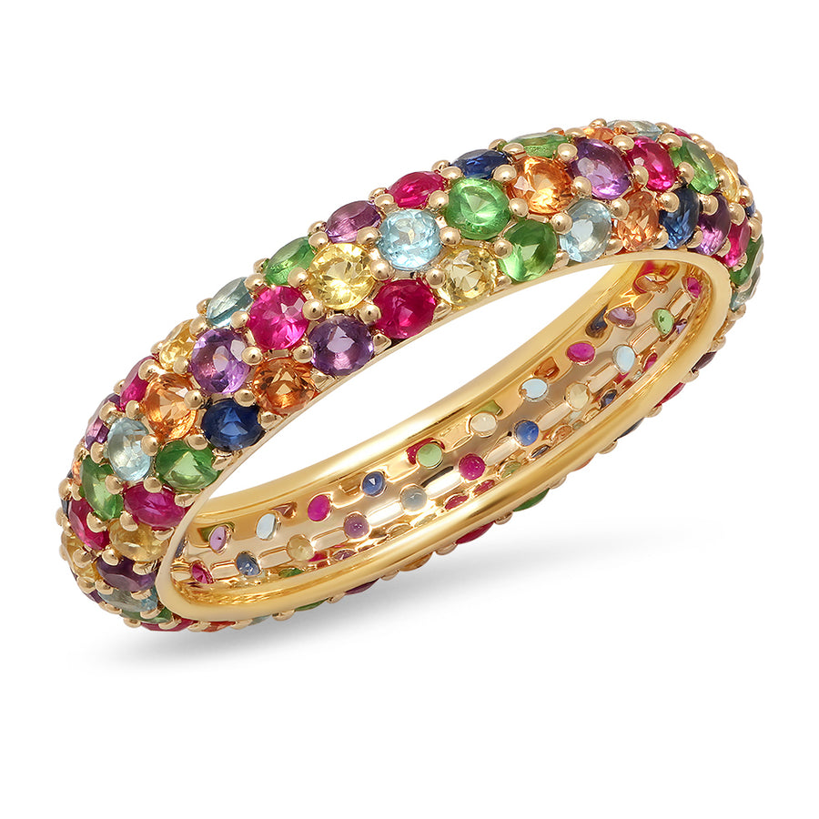 Rainbow Domed Ring - Multicolor
