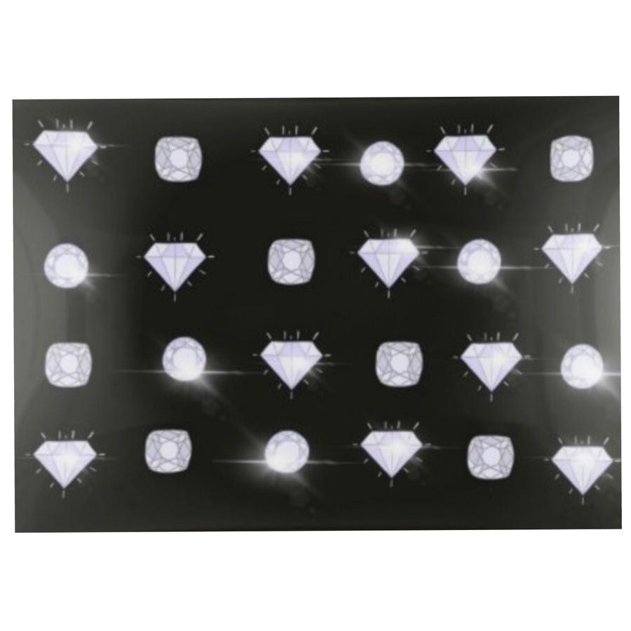 Jewelry Trinket Tray - Black Diamonds