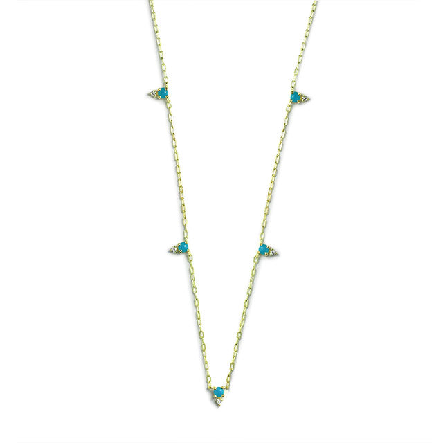 Devere Turquoise Station Necklace - Jo Latham