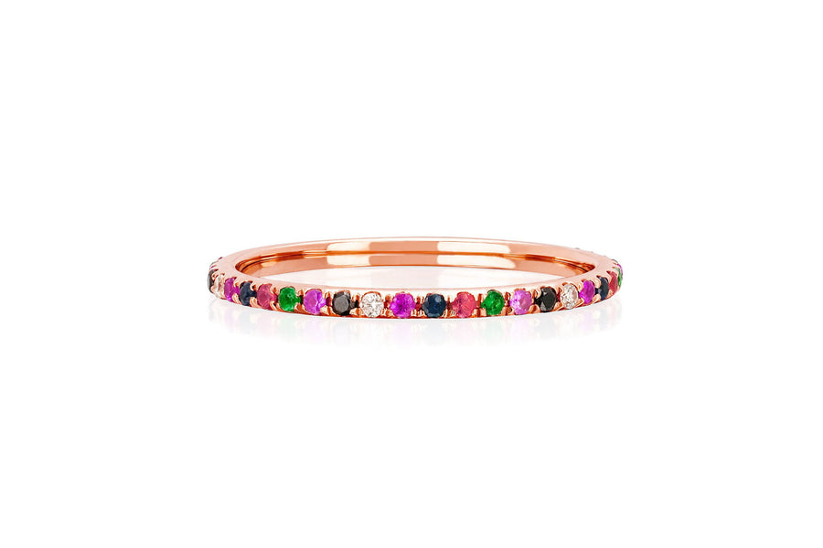 Rainbow Eternity Band - Jo Latham