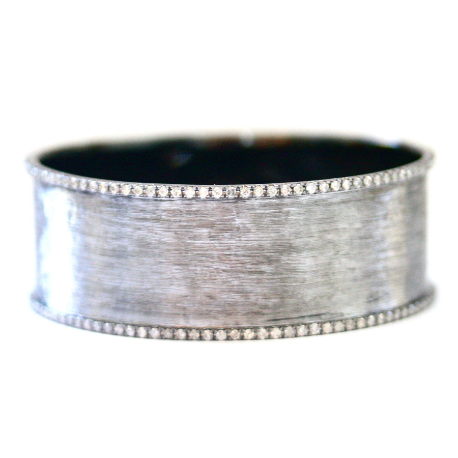Hollie Silver and Diamond Bangle - Jo Latham