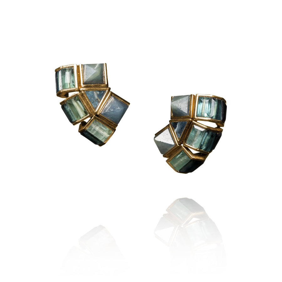Geometric Earlobe Jackets - Jo Latham