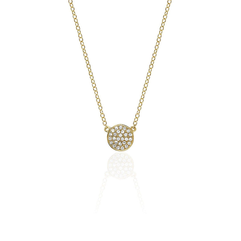 Mini Diamond Disc Necklace - Jo Latham