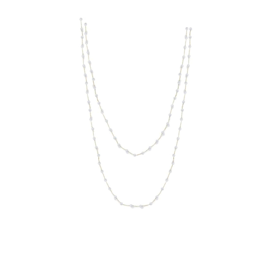 Pearl Long Double Strand Chain Necklace - Jo Latham