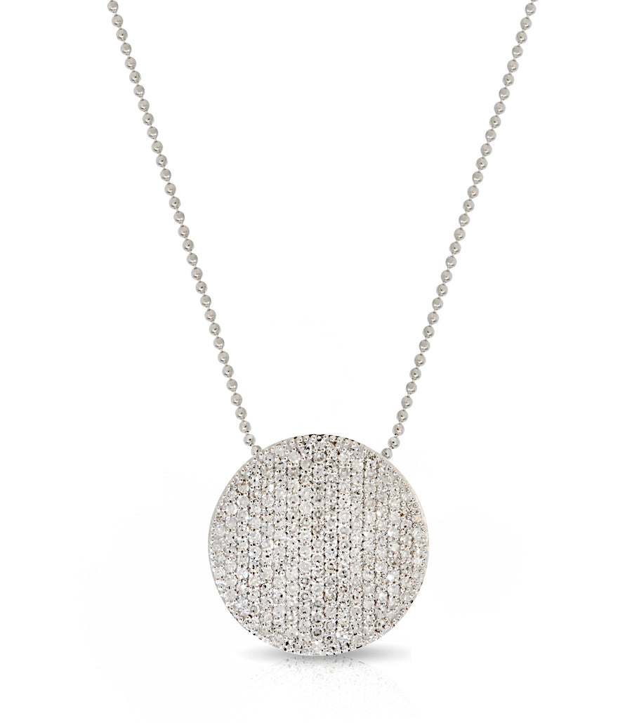 Large Diamond Pave Infinity Necklace - Jo Latham
