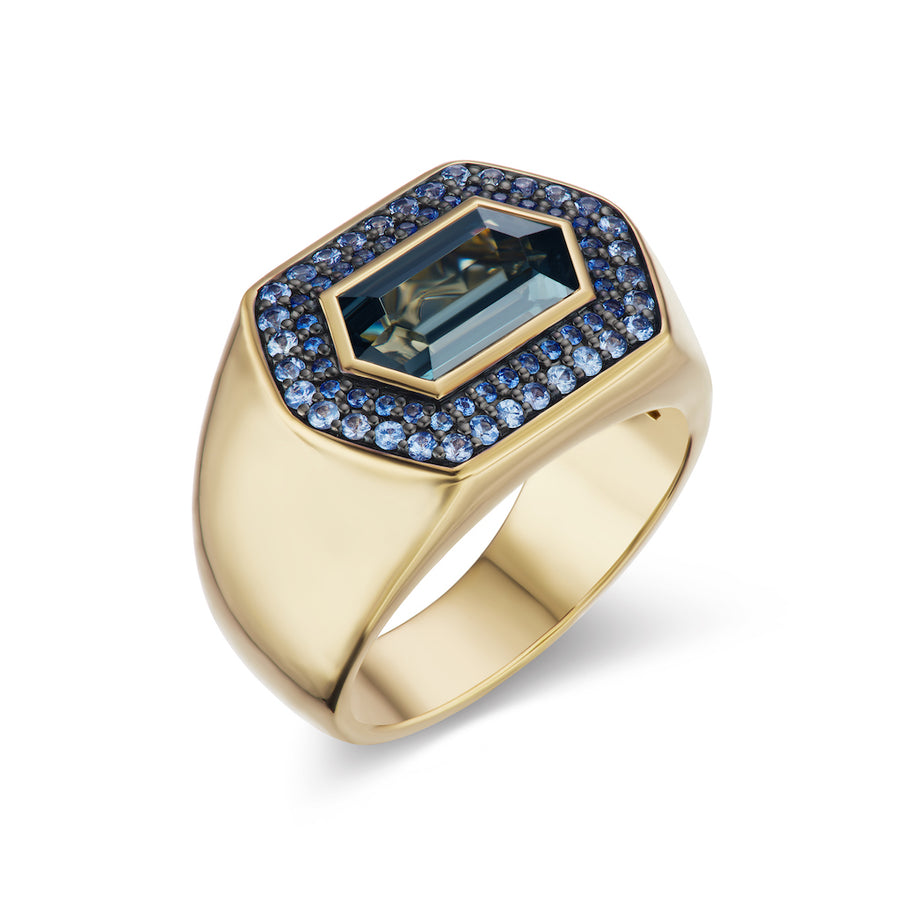 Spinel and Sapphire Gypsy Ring - Jo Latham