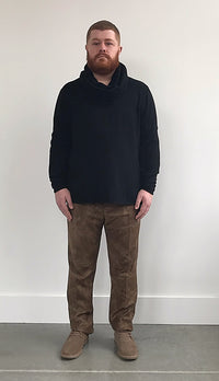 Black Cashmere Crew Neck Sweater - Gray Finn  Big and Tall Mens Luxury Clothing
