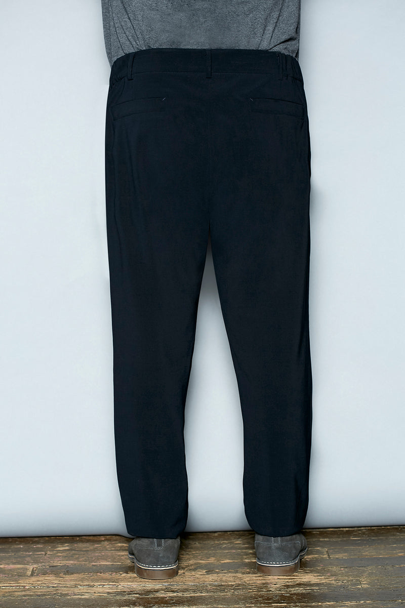 Tropical Stretch Wool Pants - Gray Finn  Big and Tall Mens Luxury Clothing
