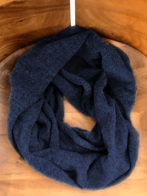 Heathered Midnight Blue Infinity Scarf - Gray Finn  Big and Tall Mens Luxury Clothing