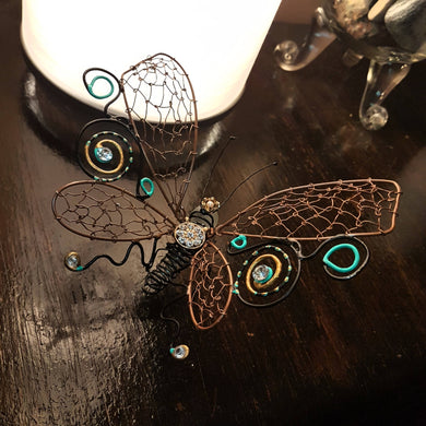 Wire Sculpture Princess Butterfly