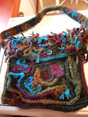 colorful purse peacock colors