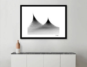 Untitled Black and White Abstract print