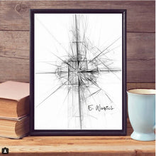 The Untitled Black and White Abstract art print