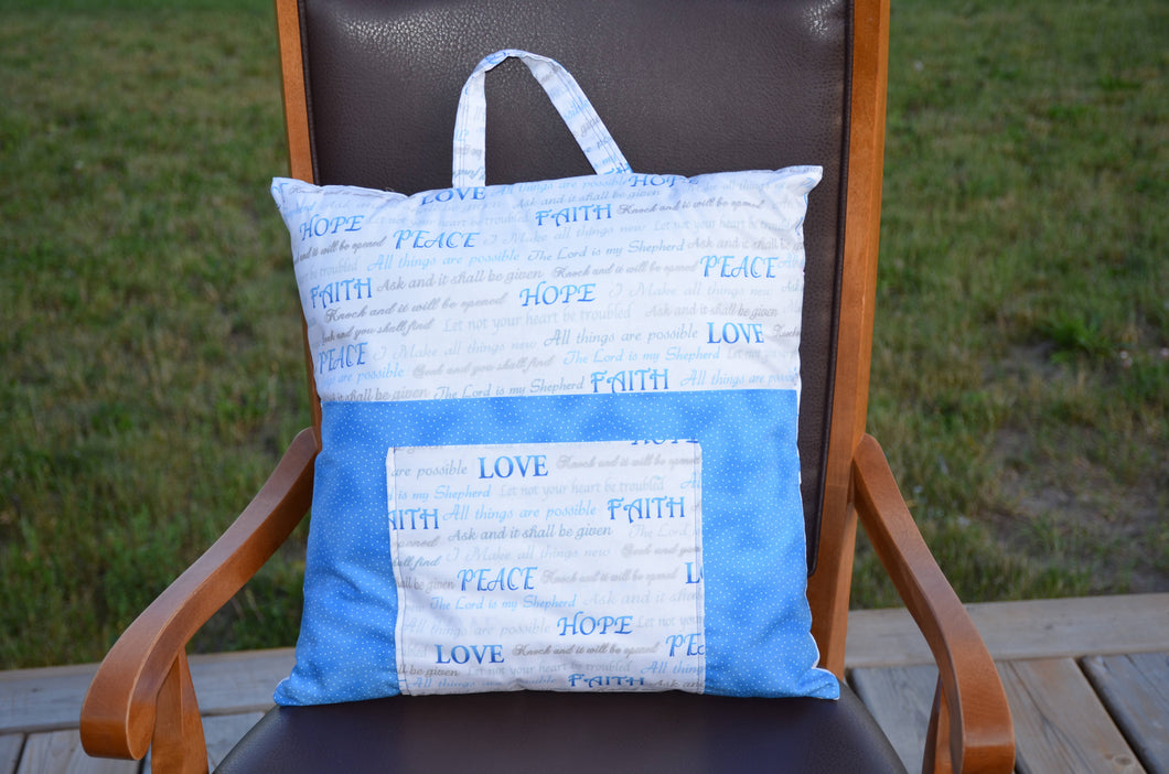 Faith themed pillow