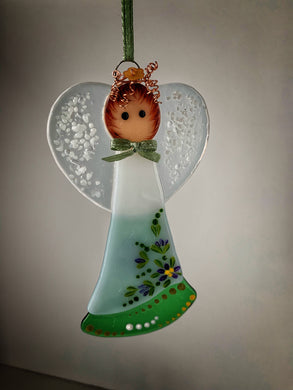 Fused glass Angel (August)