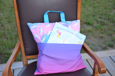 Unicorn travel reading pillow