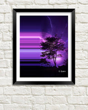 Bending the Purple Lightning art print