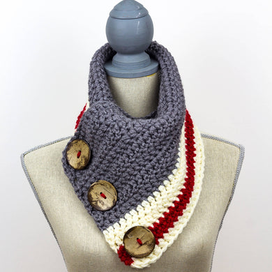 Big Button Scarf