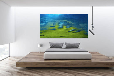 Digital abstract colour photo download Wall art print, Blue green surreal landscape titled Land of My Dreams DIY printable art work for $9.85
