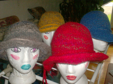 Hand Knit Wool Hats