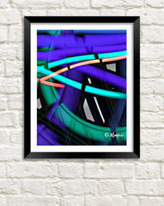 Neon Lines abstract art print