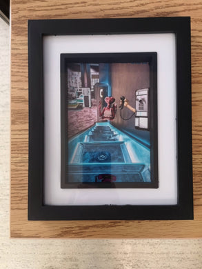 ET 'Phone Home' (in Chinese) Photographic Piece in Frame