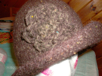 Hand Knit Felted Hat