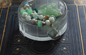 Amazonite Point Strung Bead Necklace