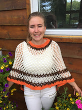 Crochet Poncho For Thanksgiving