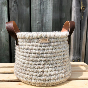 "8"" Rustic Crocheted Baskets"