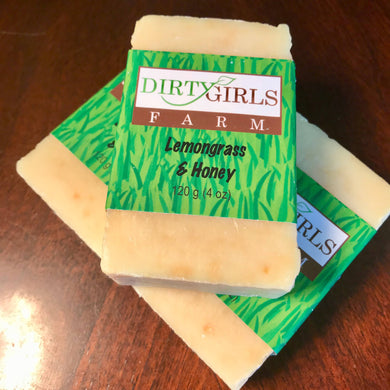All Natural / Handcrafted / Artisanal / Cold Processed Soap: LEMONGRASS & HONEY