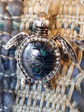 Woven Hanging, Chain, Turtle Pendant