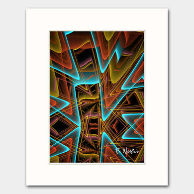 Blue Lines Intersecting Abstract art print