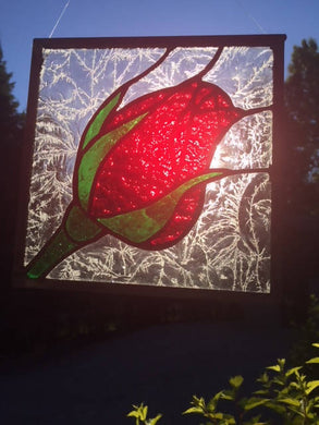 Stained Glass Rosebud