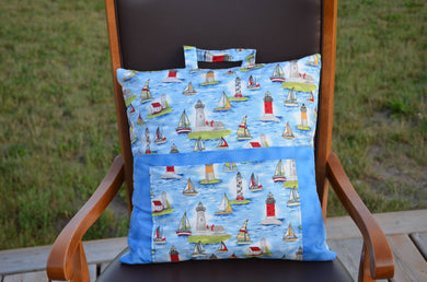 Sailing themed travel reading pillow