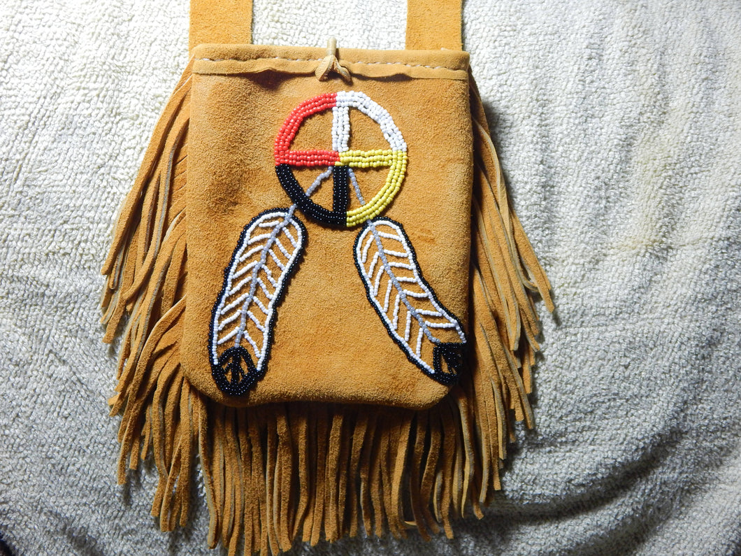 Beaded Medicine Wheel Shoulder bag