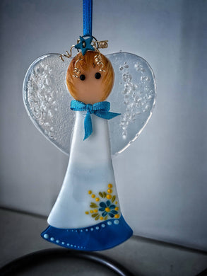 Fused glass Angel (March)