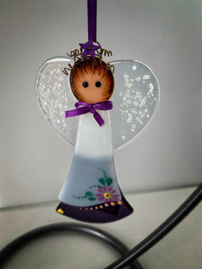 Fused glass Angel (February)
