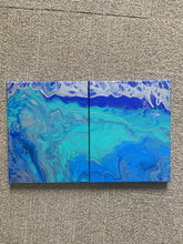 "Split lagoon 2 8x10"" on a stretched canvas"