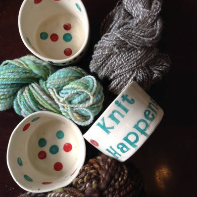 Knitting Trinket Pot