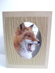 Handmade Fox Card