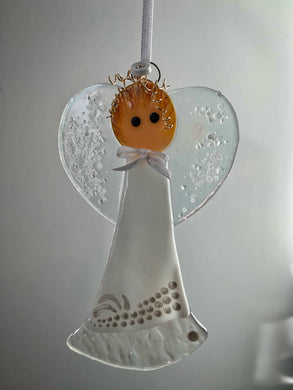 Fused glass Angel (April)