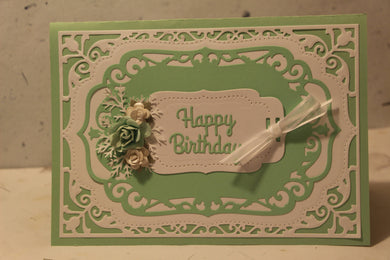 Birthday Card with Handmade Flowers